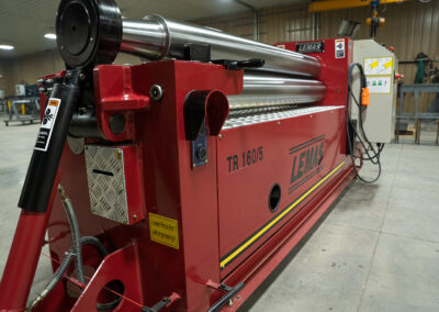 Red slip roller machine in fabrication plant